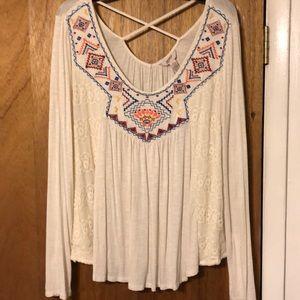 Arizona Jean co detailed shirt